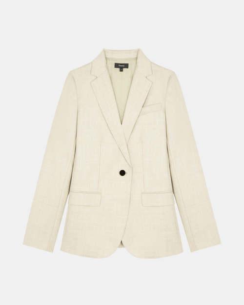 Staple Blazer in Sleek Flannel