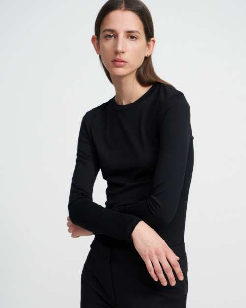 Long-Sleeve Tiny Tee in Cotton