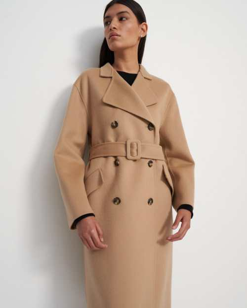 Trench Coat in Double-Face Wool-Cashmere