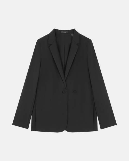 Double Closure Jacket in Good Wool