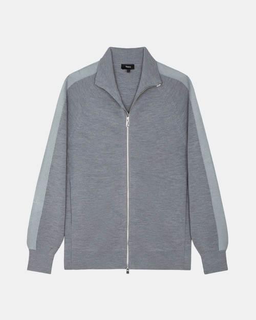 Full-Zip Sweater in Merino Wool