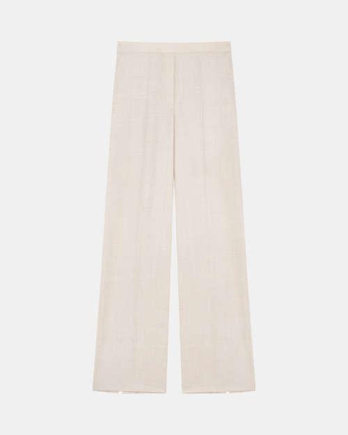 Wide Leg Pull-On Pant in Sleek Flannel