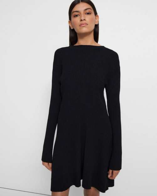 Moving Rib Dress in Empire Wool