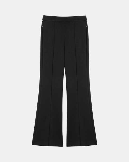 Slit Demitria Pant in Double-Knit Jersey