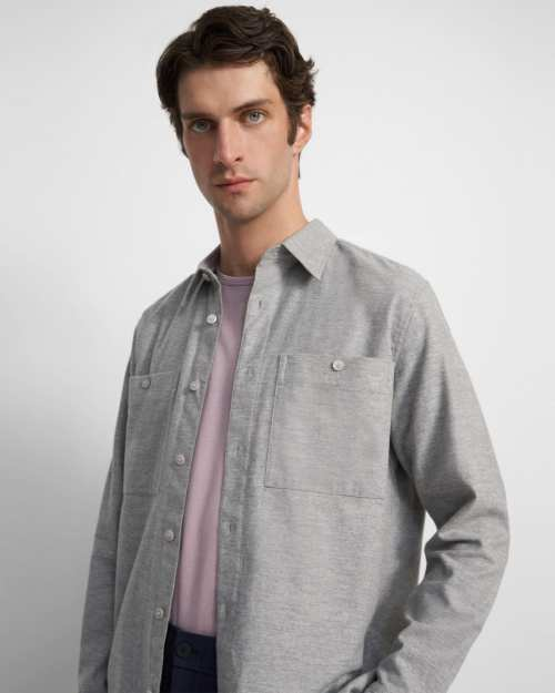 Patch Pocket Shirt in Brushed Cotton