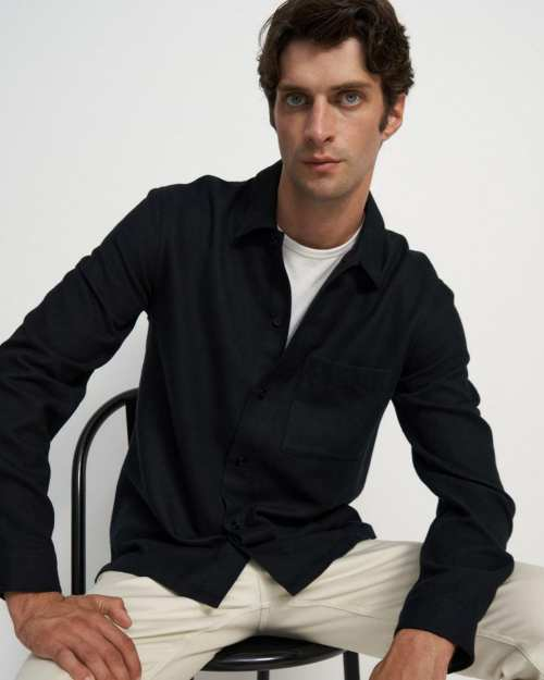 Shirt Jacket in Luxe Flannel Twill